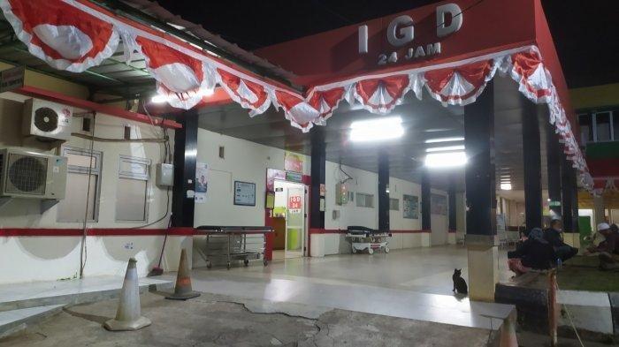 Kondisi di IGD RSUD Palabuhanratu, Rabu (1/9/2021) malam. Terbaru, viral video menampilkan pria bersimbah darah tergeletak di jalan diduga kuat jadi korban pembegalan.