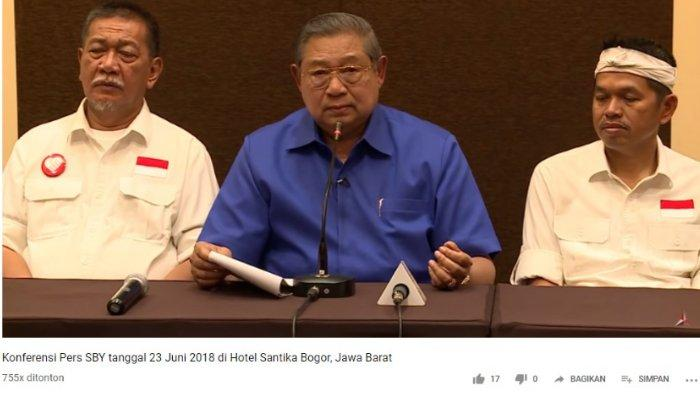 Inilah Video Pidato SBY yang Jadi Bukti Tim Hukum BPN ke MK: BIN, TNI, dan Polri Disebut Tak Netral