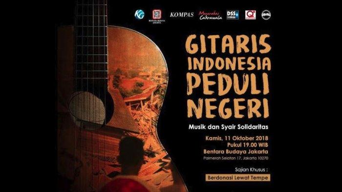 Live Streaming Konser Amal 60 Gitaris Indonesia untuk Korban Gempa Palu, Malam Ini Pukul 19.00 WIB