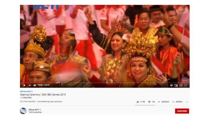 Pembukaan SEA Games 2019 di Filipina, Kontingen Indonesia Kenakan Baju Adat Nusantara