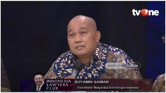 Sebut Nama TT saat Bahas Djoko Tjandra di ILC, Boyamin Saiman Menduga soal Terhapusnya Red Notice