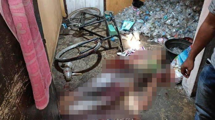 Korban pembacokan, Syaifudin Sahab (21) warga Tenggumung Wetan Gang Mangga, Surabaya, ditemukan meninggal dengan kondisi mengenaskan, Selasa (2/3/2021).