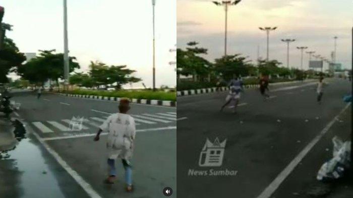 Viral Bocah di Padang Tawuran Saling Lempar Batu di Awal Ramadan, Terjadi Pagi-Pagi di Jalan Raya