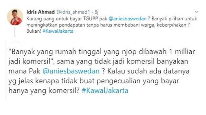 Kritik Kebijakan Baru Anies, Caleg PSI Kena Sentil Tim Gubernur DKI