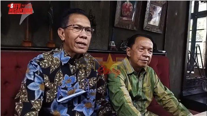 Kuasa hukum Hotma Sitompul, Partahi Sihombing (kiri) dan Muara Karta membeberkan persoalan dengan Desiree Tarigan, Kamis (22/4/2021).