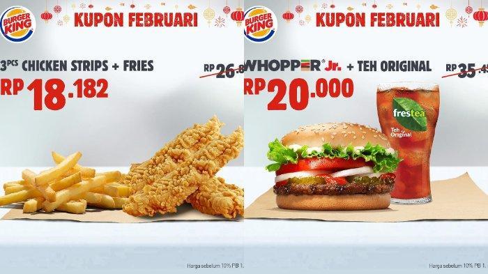 Kupon 1 dan 2 promo Burger King Februari 2019