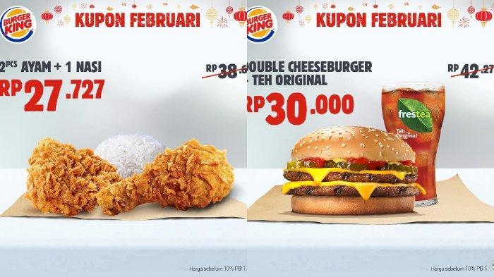 Kupon 3 dan 4 promo Burger King Februari 2019