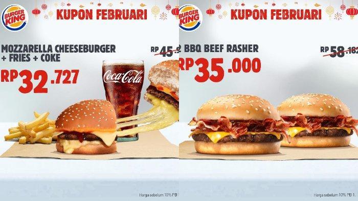Kupon 5 dan 6 promo Burger King Februari 2019