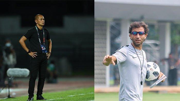 Kurniawan Dwi Yulianto (kiri) dan Luis Milla (kanan) pada postingan Instagram @luismillacoach @kurniawanqana. Dua kandidat pelatih Borneo FC