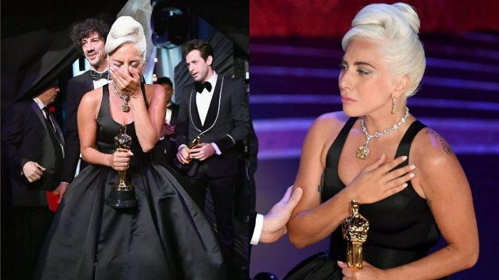Reaksi Lady Gaga saat Terima Piala Oscar-nya yang Pertama, Menangis dan Sebut Nama Bradley Cooper