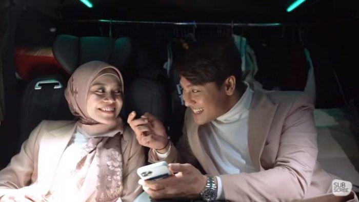 Lesti Kejora dan Rizky Billar saat berada dalam satu mobil, Sabtu (26/5/2021). Rizky Billar memberikan kejutan romantis untuk Lesti.