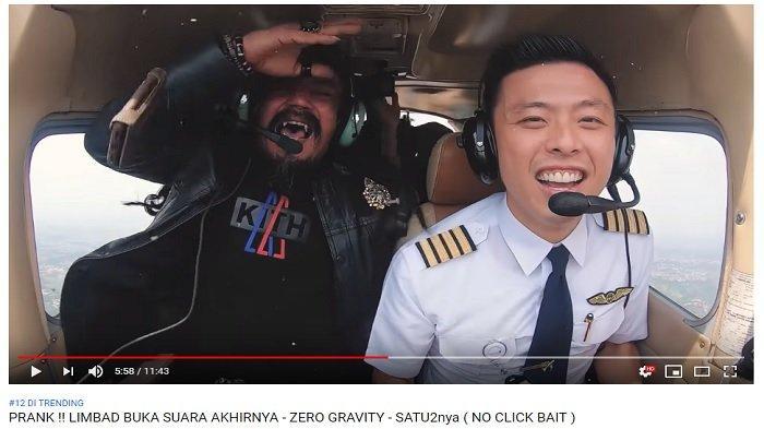 Suara Pesulap Limbad Akhirnya Terdengar saat Dikerjai Pilot Vincent Raditya di Dalam Pesawat