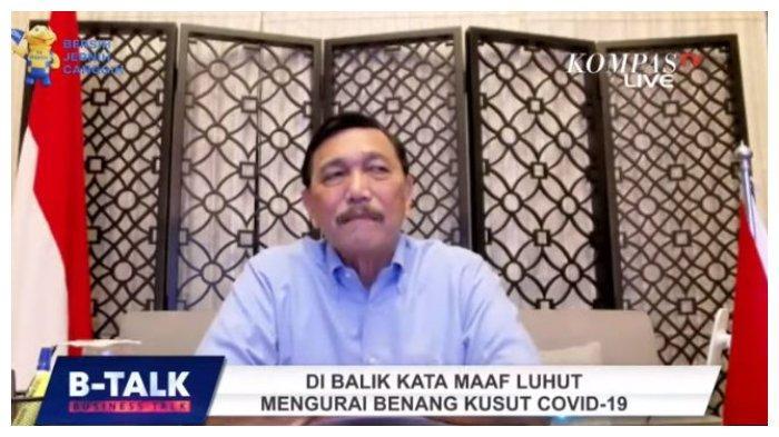 Koordinator PPKM Darurat Luhut Binsar Pandjaitan berkaca-kaca ungkapkan kesedihannya belum bisa optimal tangani Covid-19, Selasa (20/7/2021).