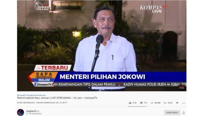 Ini 12 Menteri yang akan Kembali Menjabat di Kabinet Jokowi II, Sri Mulyani hingga Luhut Pandjaitan