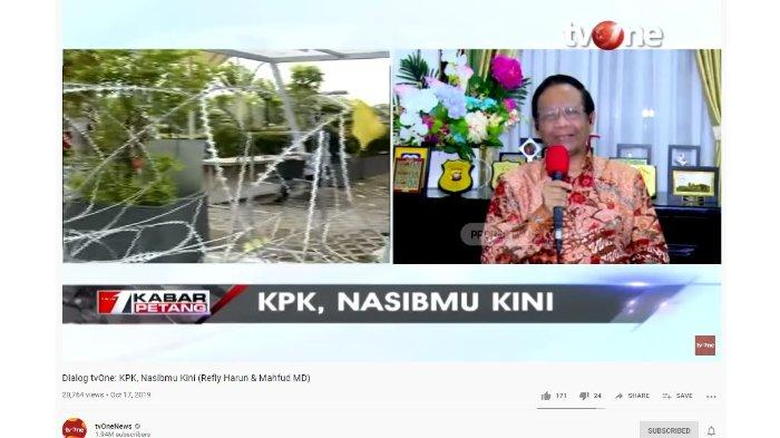 Bahas soal Dewan Pengawas di UU KPK, Mahfud MD Sindir DPR: Pintar Tuh Nambahin Pasal di Tengah Malam