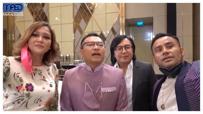 Maia Estianty, Anang Hermansyah, Ari Lasso, Judika di acara lamaran Aurel Hermansyah dan Atta Halilintar.