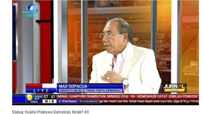 Majelis Tinggi Partai Demokrat Max Sopacua