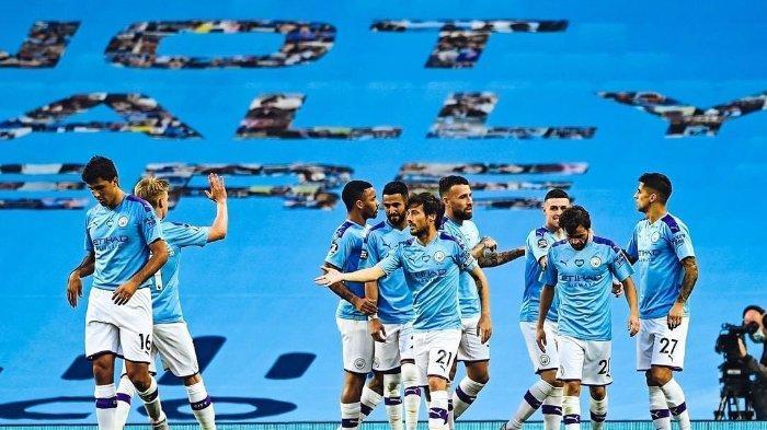 Manchester City menang besar atas Burnley dalam laga pekan ke-30 Liga Inggris dengan skor 5-0 di Stadion Etihad, Selasa (23/6/2020) dini hari WIB.