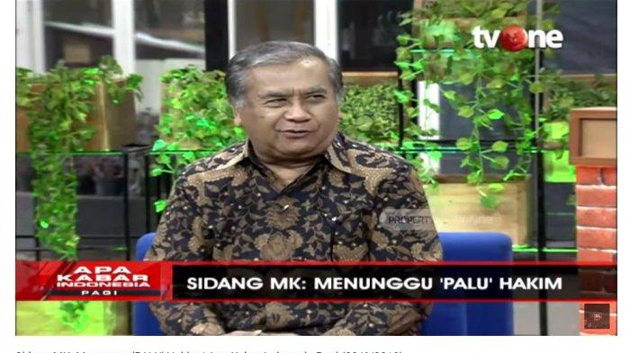 Mantan Hakim Mahkamah Konstitusi (MK) 2003-2008, Maruarar Siaahan menjelaskan bagaimana alur hakim MK dalam menentukan sengketa persidangan.