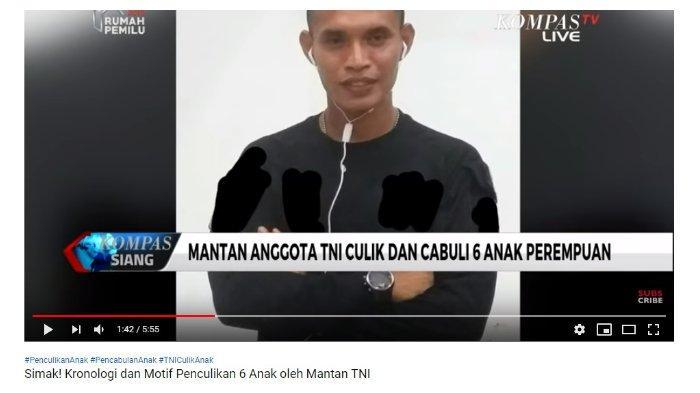 Mantan anggota TNI yang cabuli dan culik bocah di Kendari