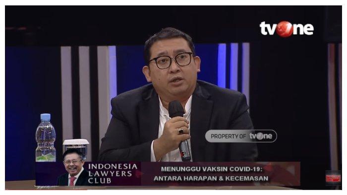 Di ILC, Fadli Zon Pertanyakan Penanggungjawab Penuh Vaksin Covid-19: Semua Menteri Ngomong