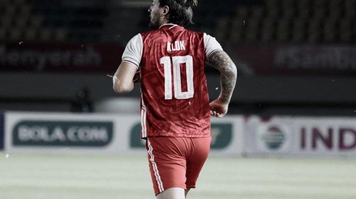 Eks pemain Persija Jakarta, Marc Klok saat masih berseragam tim Macan Kemayoran.