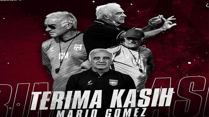 Mario Gomez mundur dari borneo FC pada postingan Instagram  @borneofc pada Kamis (16/9/2021).
