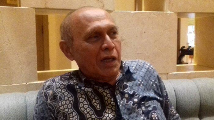 Mayjen (Purn) TNI Kivlan Zein saat ditemui Tribunnews.com di Hotel Borobudur, Jakarta Pusat, Sabtu (3/12/2016)