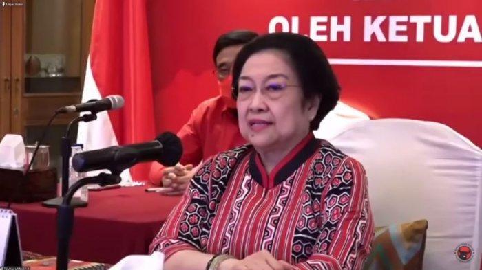 Ketua Umum PDIP Megawati Soekarnoputri dalam acara Peresmian Patung Bung Karno, Sekolah Partai, Kantor DPD dan DPC PDI Perjuangan, Rabu (28/10/2020). (YouTube PDI Perjuangan)