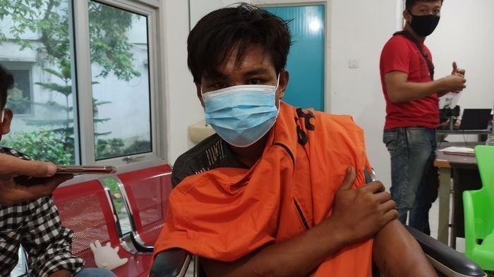 Meggy otak pelaku pembegalan yang terjadi di Kota Palembang saat diamankan Polda Sumsel, Rabu (16/12/2020)