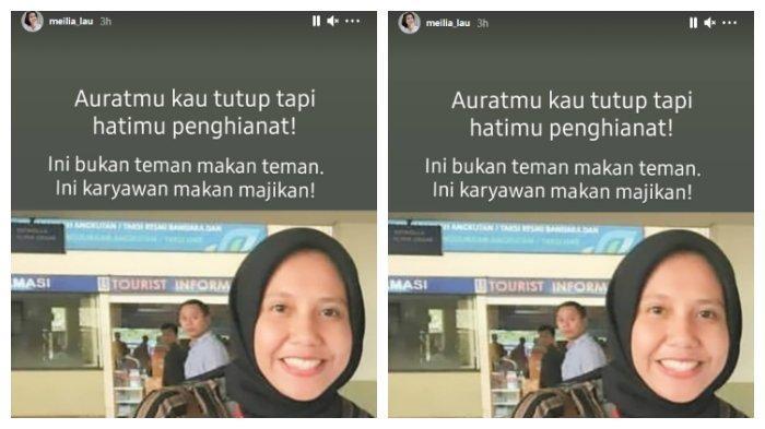 Unggahan akun Instagram ibu Felicia Tissue, Minggu (7/3/2021). Meilia Lau sebut Kaesang putuskan Felicia Tissue karena wanita lain.