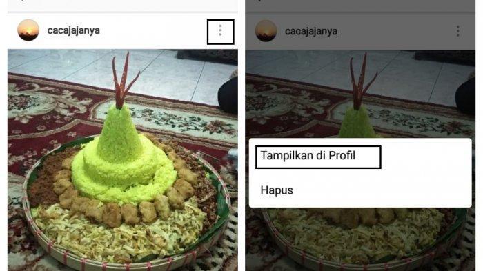 Menampilkan kembali foto atau video di Instagram