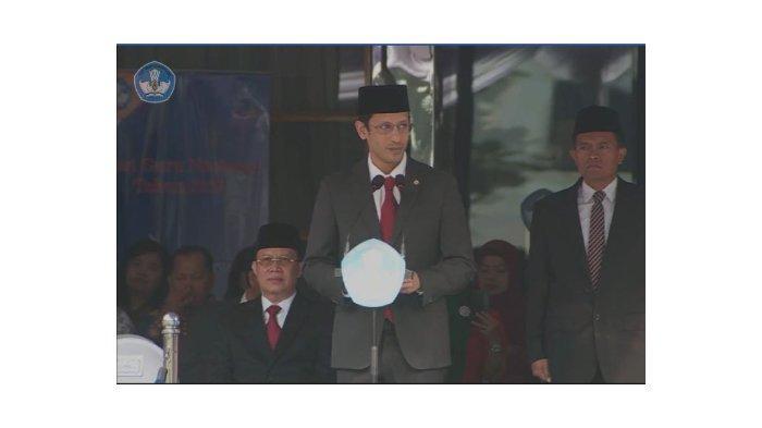 Momen Mendikbud Nadiem Makarim Berjoget Maumere di Peringatan Hari Guru Nasional