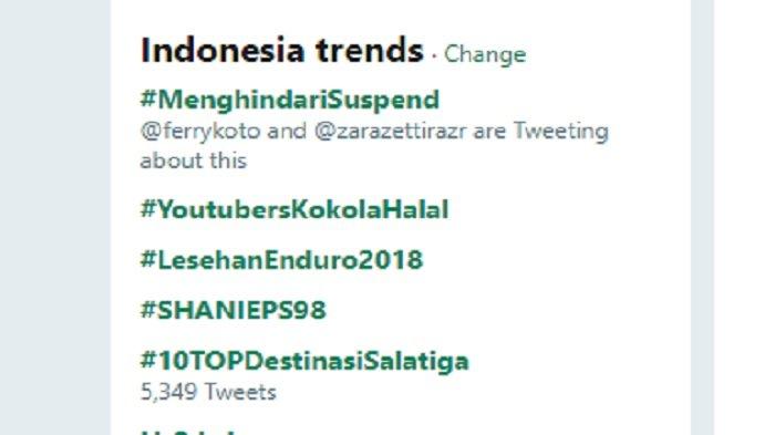 #MenghindariSuspend yang jadi Trending