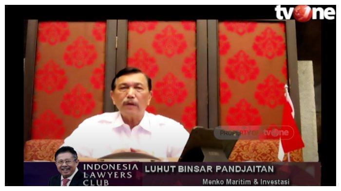 Di ILC, Luhut Klaim Omnibus Law UU Cipta Kerja Banyak Diapresiasi Negara Lain: Mereka Memuji Jokowi