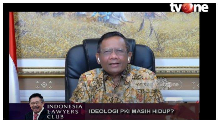 Menko Polhukam, Mahfud MD buka suara menanggapi pembubaran acara Koalisi Aksi Menyelamatkan Indonesia (KAMI), dalam acara Indonesia Lawyers Club (ILC), Selasa (29/9/2020).