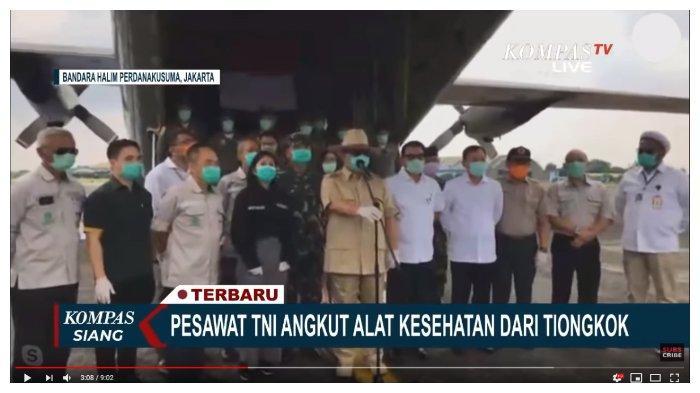 Terima Bantuan dari China, Prabowo Ajak Warga Tenang Hadapi Corona: Mereka Sudah Alami yang Dahsyat