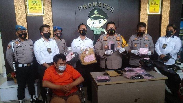 Merry pelaku pembunuhan Yuliana janda muda di Hotel Rio Palembang berhasil ditangkap, Kamis (18/1/2021).