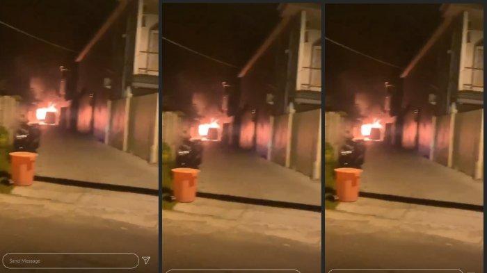 Lihat Kondisi Mobil Alphard Via Vallen yang Dibakar Orang Tak Dikenal, Habis Hanya Tersisa Rangka