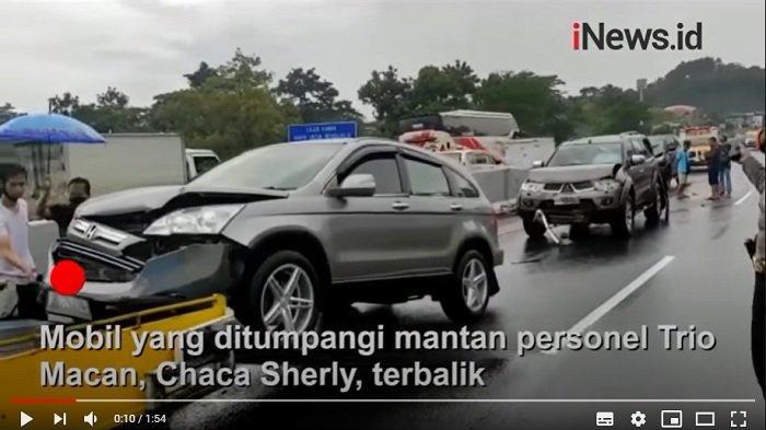 Mobil yang diduga ditumpangi Chacha Sherly