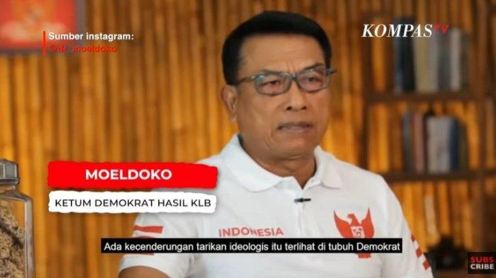 Ketua Umum Partai Demokrat versi kongres luar biasa (KLB) Deliserdang Moeldoko mengungkapkan alasan menerima tawaran menjadi ketua umum, ditayangkan Selasa (30/3/2021).