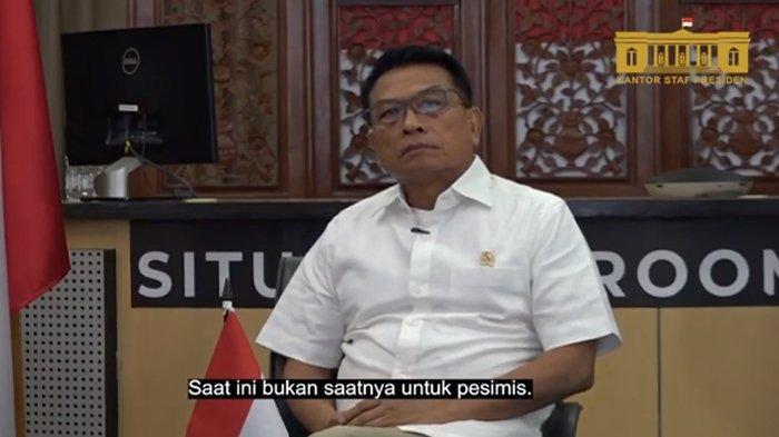 Kepala Kantor Staf Presiden (KSP), Moeldoko tanggapi pihak yang ragukan pemerintah Indonesia bisa mengatasi pandemi Covid-19, Sabtu (10/7/2021).