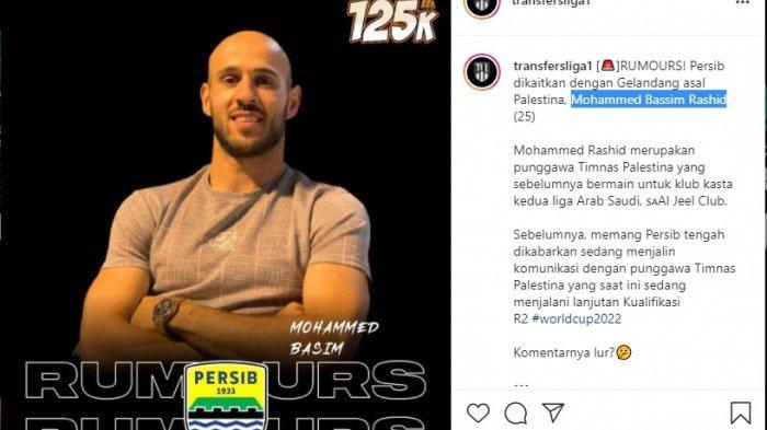 Mohammed Bassim Rashid dirumorkan akan bergabung ke Persib Bandung untuk membela pada kompetisi Liga 1 2021.