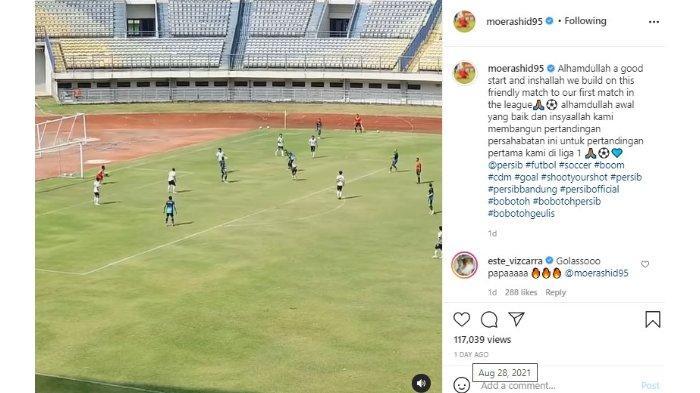 Cuplikan aksi Mohammed Rashid yang membuat gol indah bersama Persib Bandung saat melakoni laga uji coba.
