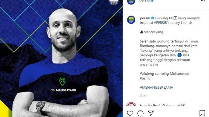Persib Bandung mengenalkan pemain barunya Mohammed Rashid dari Palestina. (Capture Instagram @persib)