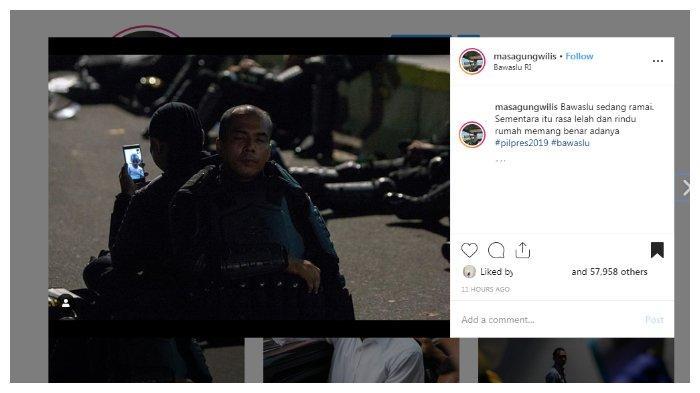 Unggahan akun Instagram @masagungwilis yang membuat banyak warganet terenyuh