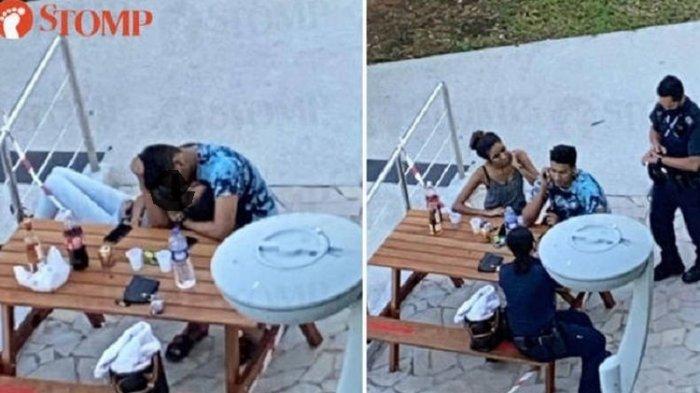 Pasangan Muda Mudi Nekat Berciuman saat Social Distancing, Polisi Berikan Denda Rp 3,2 Juta