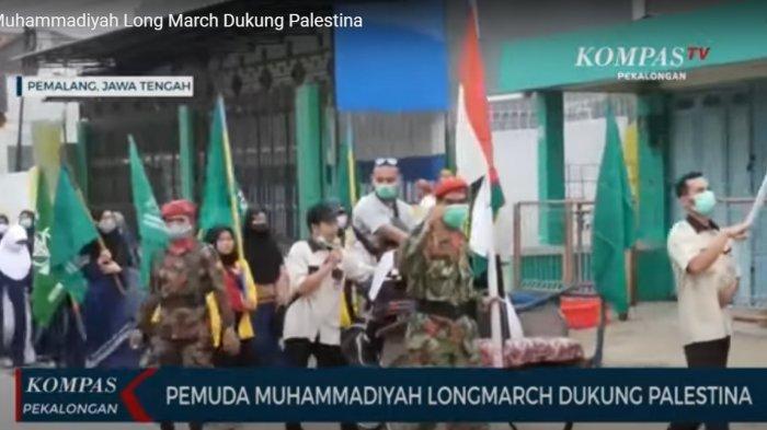 Dukung Palestina, Puluhan Kader Muhammadiyah Lakukan Long March di Pemalang: Serukan Keprihatinan