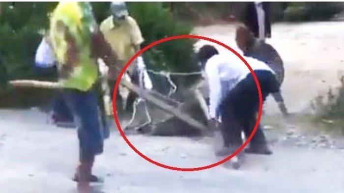 Salamat Sianipar, pasien positif Covid-19 di Toba disiksa oleh warga.