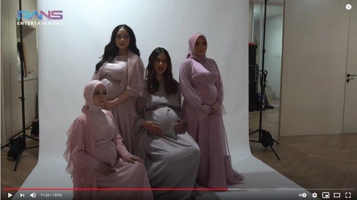 Nagita Slavina, Puala Verhoeven, Lesti Kejora dan Aurel Hermansyah.